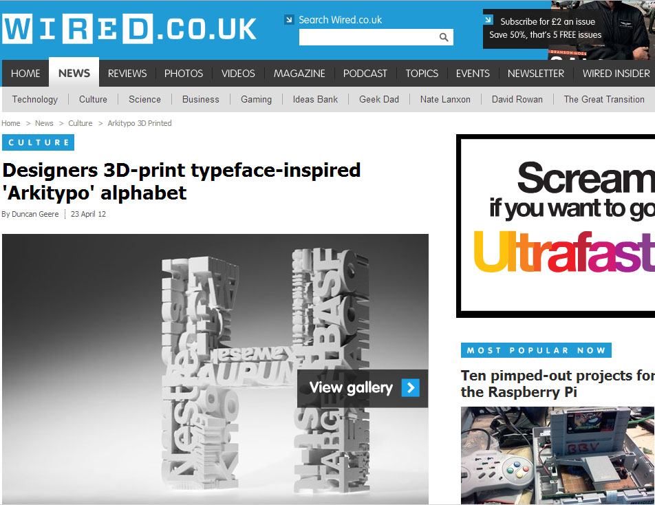 Arkitypo appears on wired.co.uk - Modla | Creative Design in 3D Printing